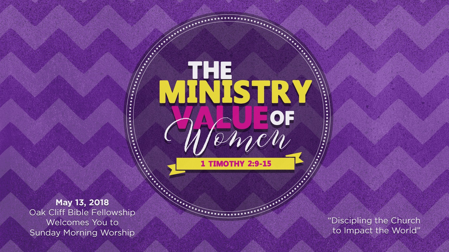 The Ministry Value of Women