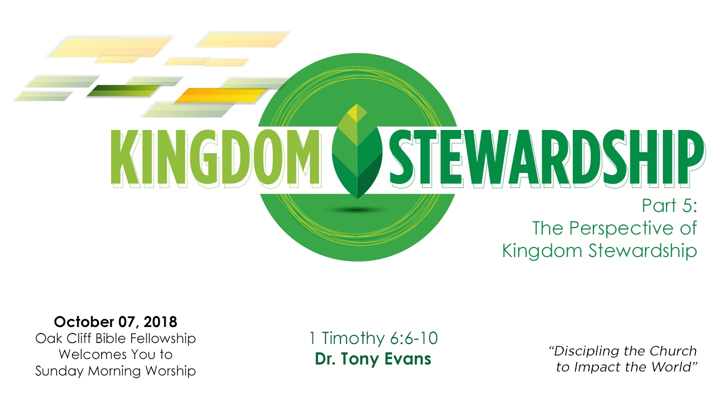 The Perspective of Kingdom Stewardship