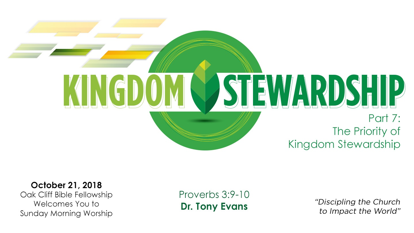 The Priority of Kingdom Stewardship