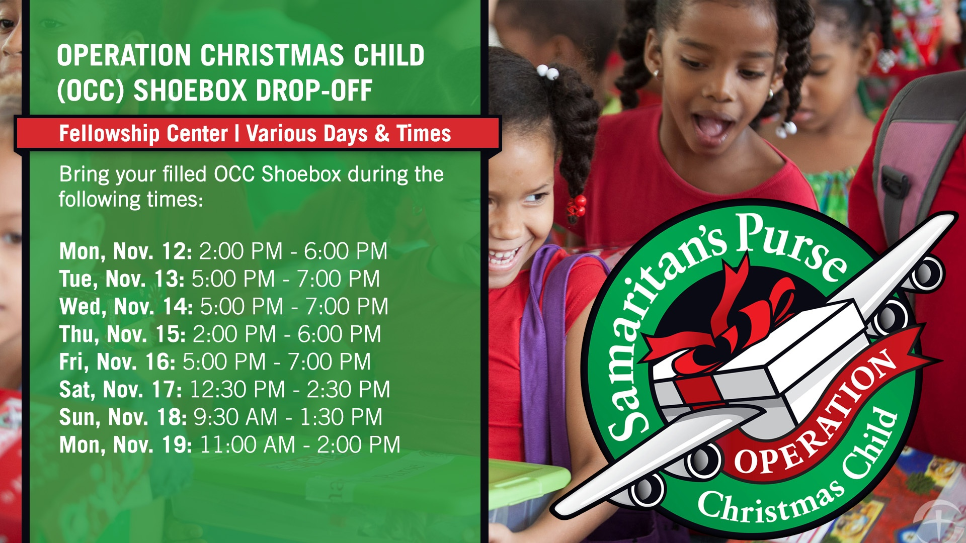 Christmas Operation Child.Operation Christmas Child Drop Off Oak Cliff Bible Fellowship
