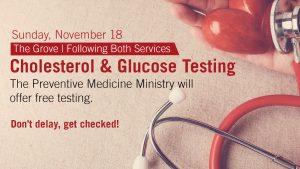 Cholesterol and glucose screening