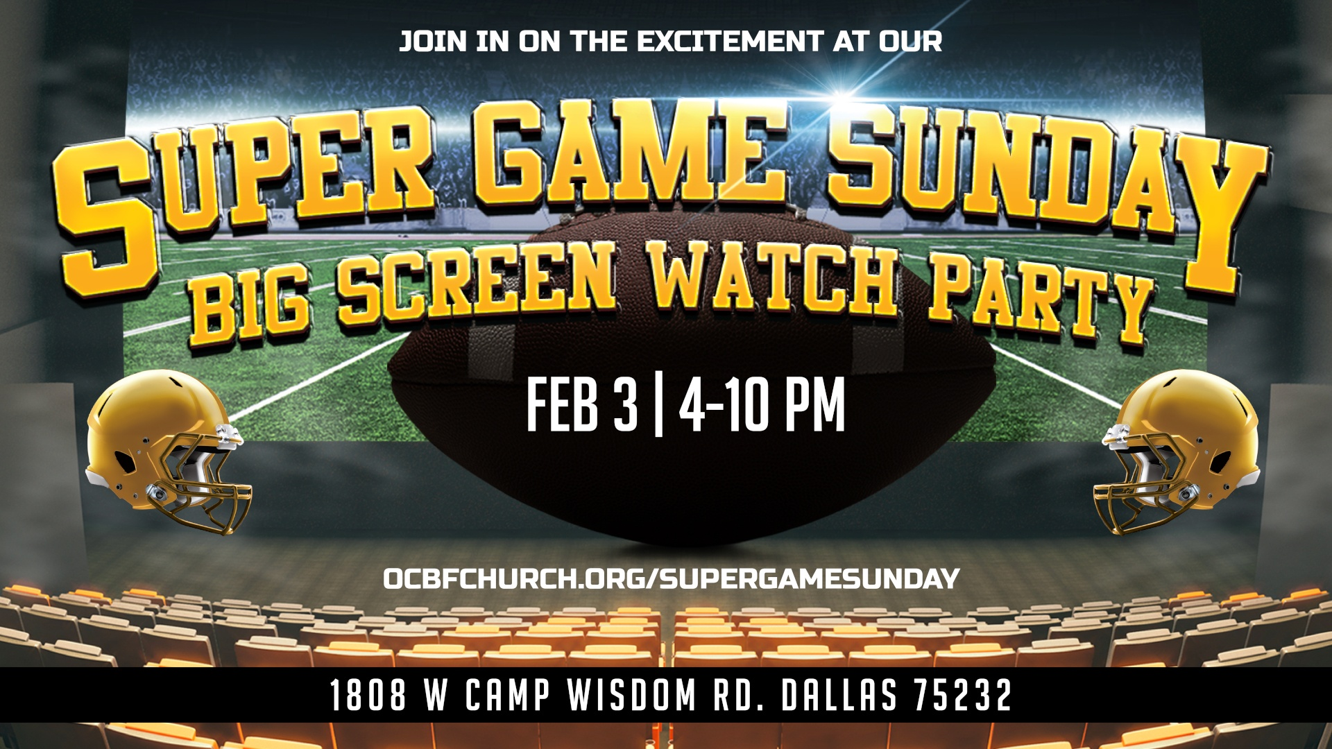 Super Game Sunday Watch Party