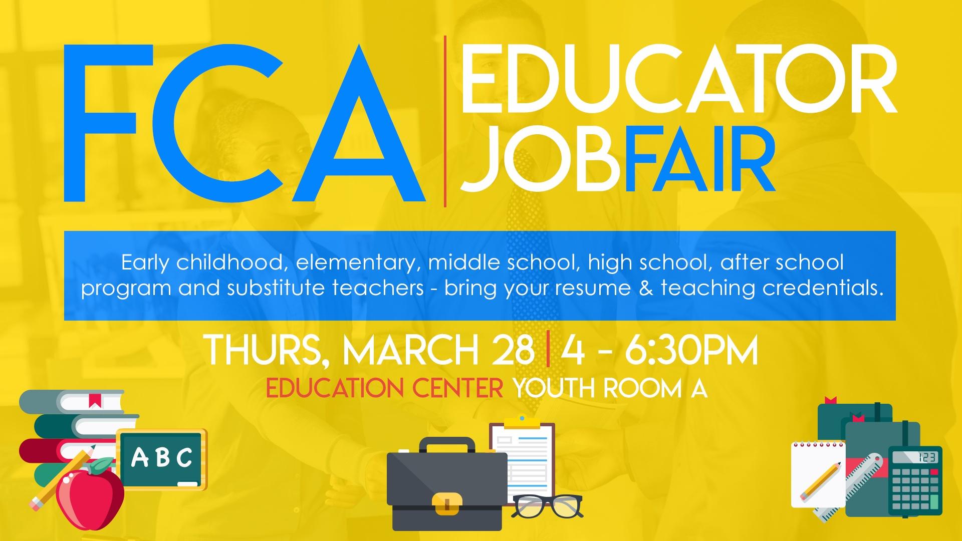 FCA Educator Job Fair