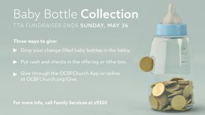 Baby Bottle Collection - TTA fundraiser