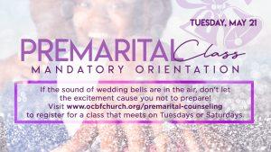 Premarital Class Orientation