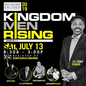 No More Excuses Men's Conference: Kingdom Men Rising
