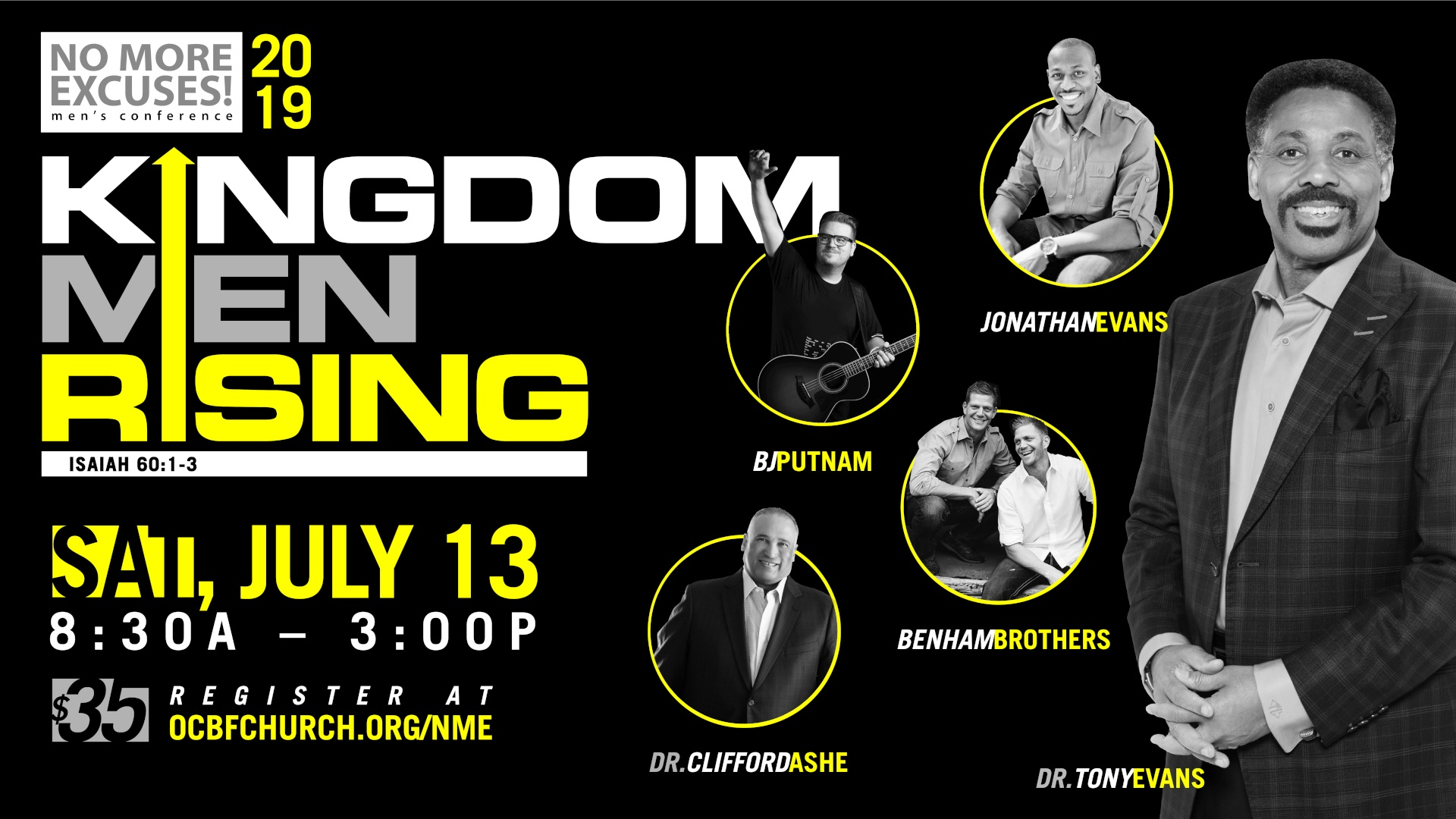 No More Excuses Men's Conference: Kingdom Men Rising