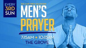 Men's prayer every 3rd Sunday
