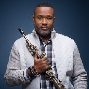 Jazz saxophonist Merlon Devine