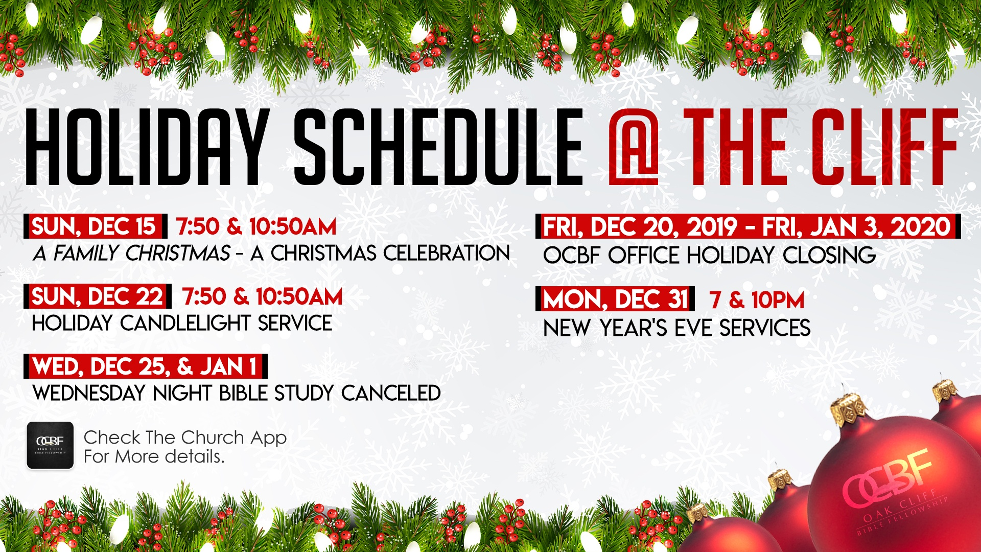 Christmas Candlelight Services Near Me 2020 Christmas Candlelight Service | Oak Cliff Bible Fellowship
