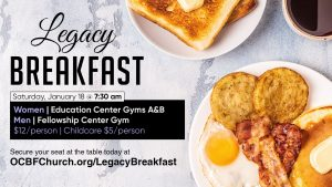 Legacy Breakfast for Men and Women at OCBF
