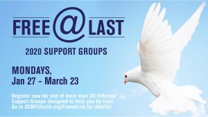 2020 Free at Last Groups: Jan 27 - Mar 23