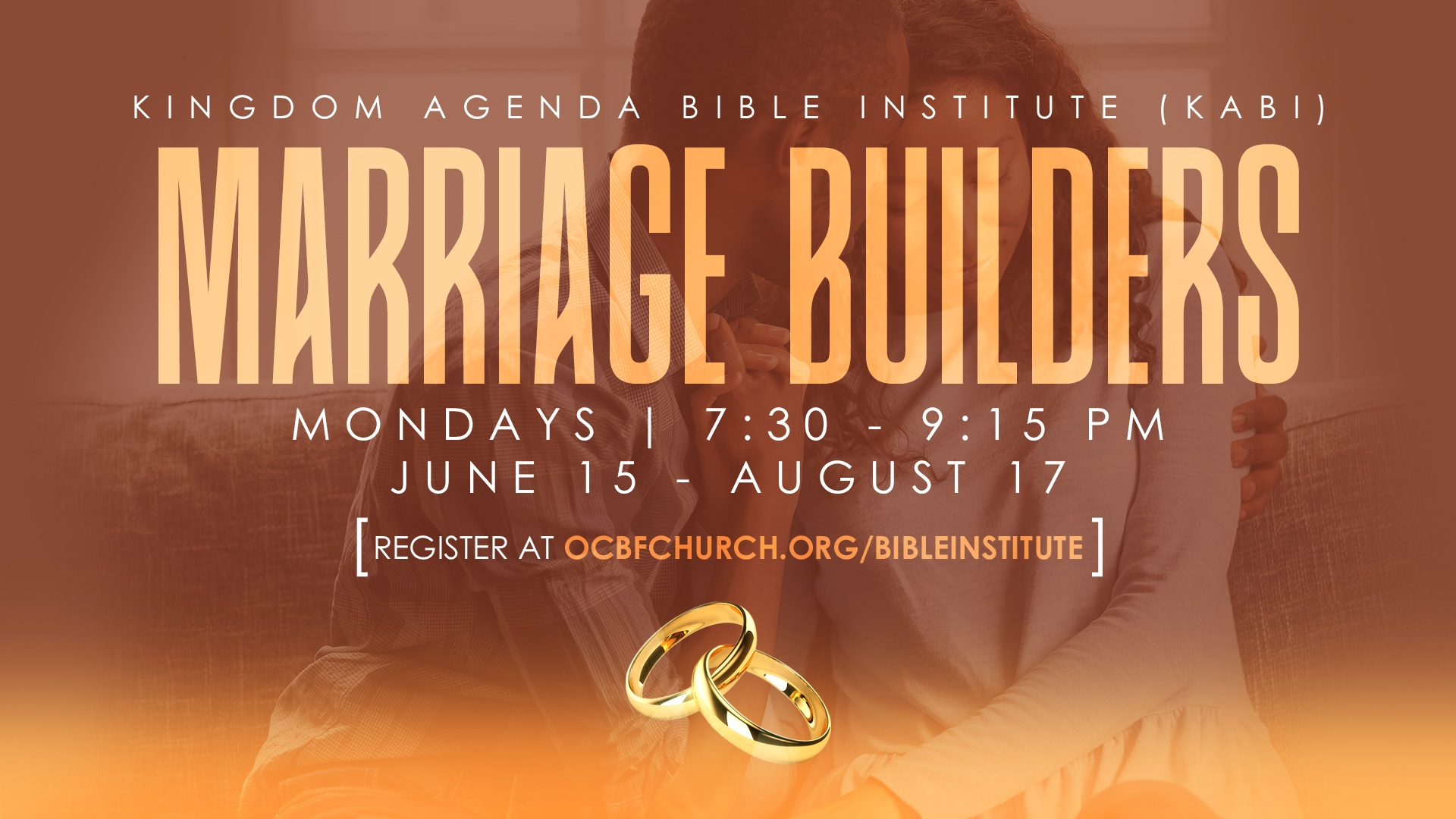 Marriage Builders course - Kingdom Agenda Bible Institute