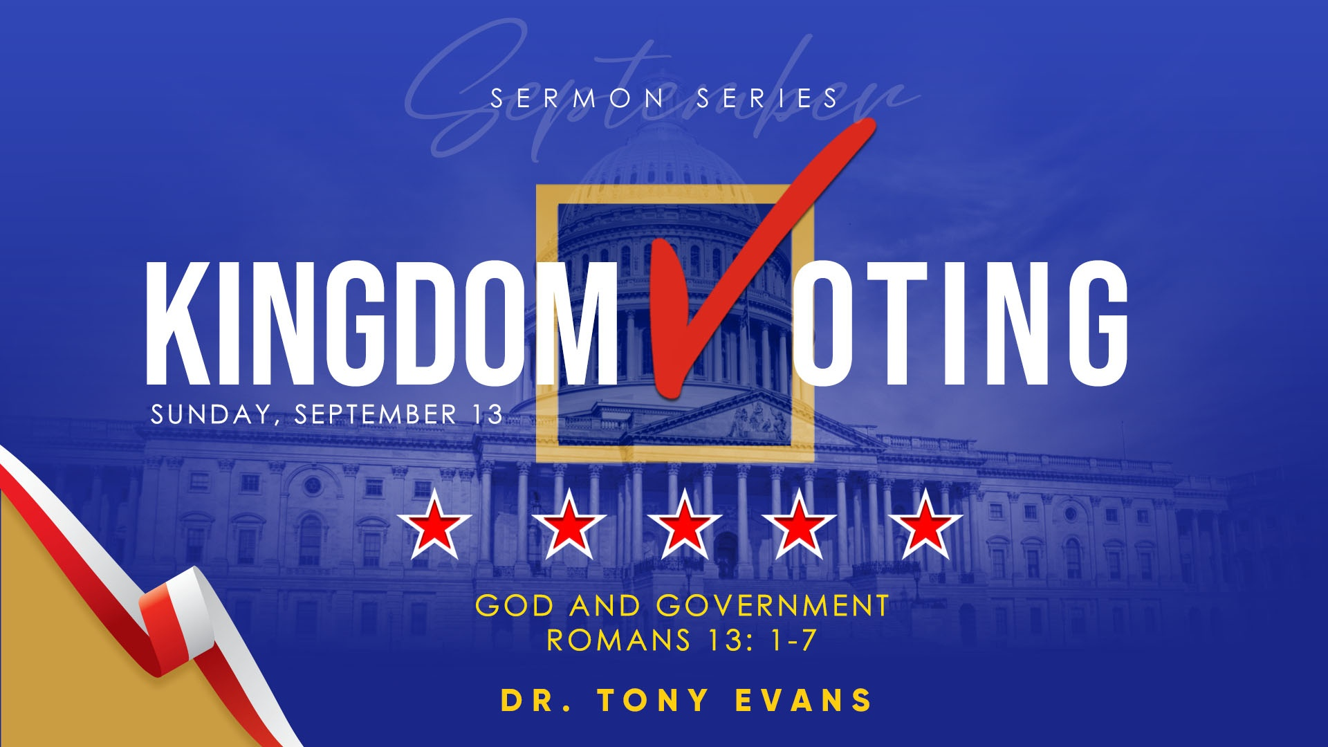 God and Government by Dr. Tony Evans - Kingdom Voting Series