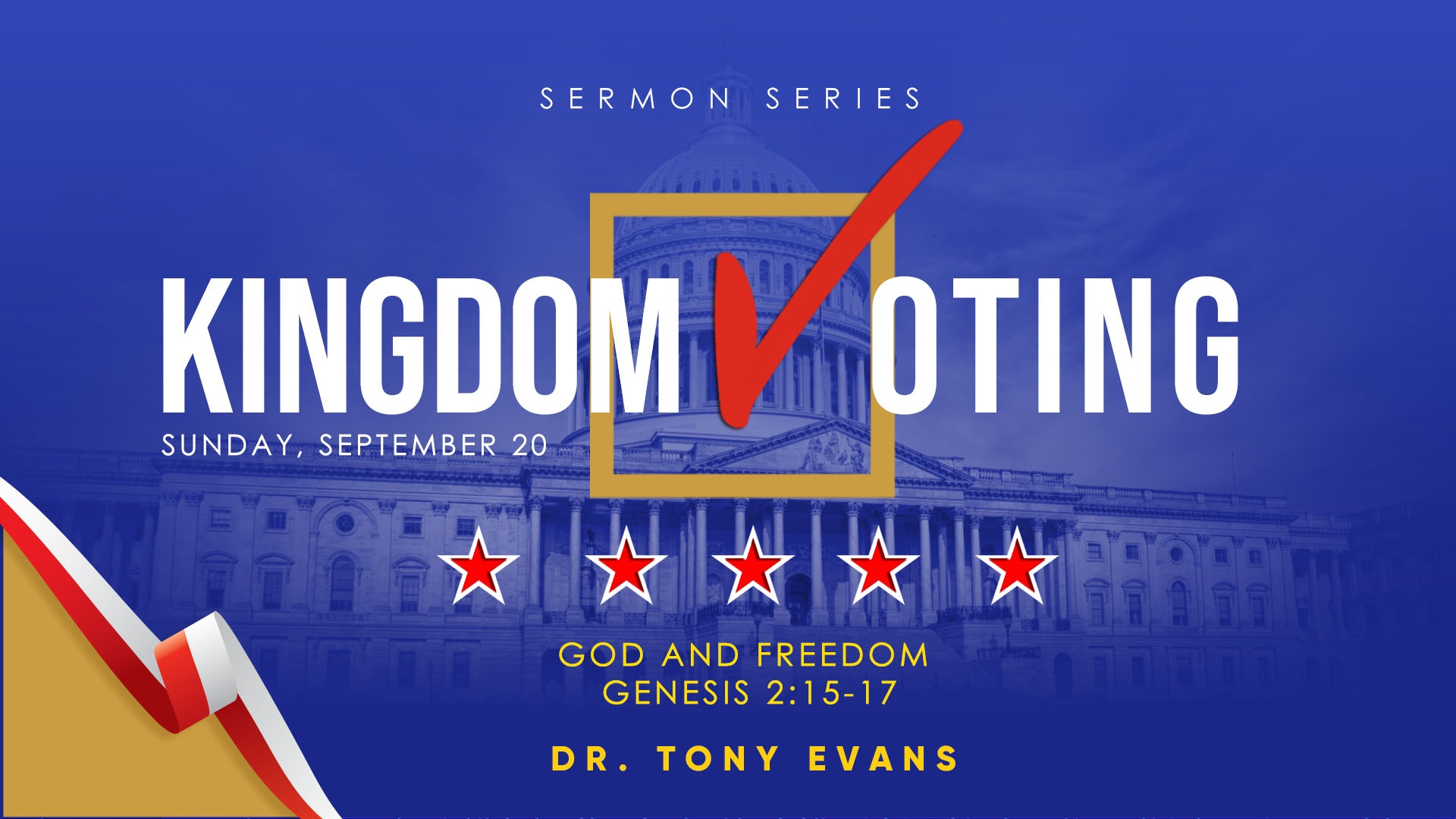 God and Freedom by Dr. Tony Evans - Kingdom Voting Series