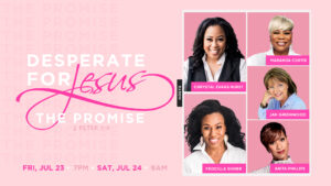 Five women speaking at the Desperate for Jesus women's conference