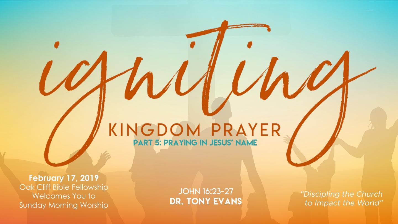 Praying in Jesus' Name